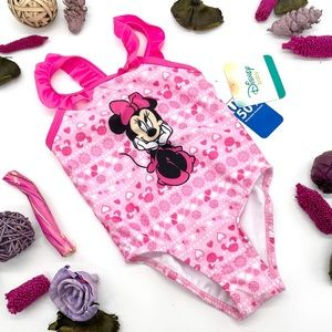 Minnie Mouse Baby Girl One-Piece Ruffle Swimsuit